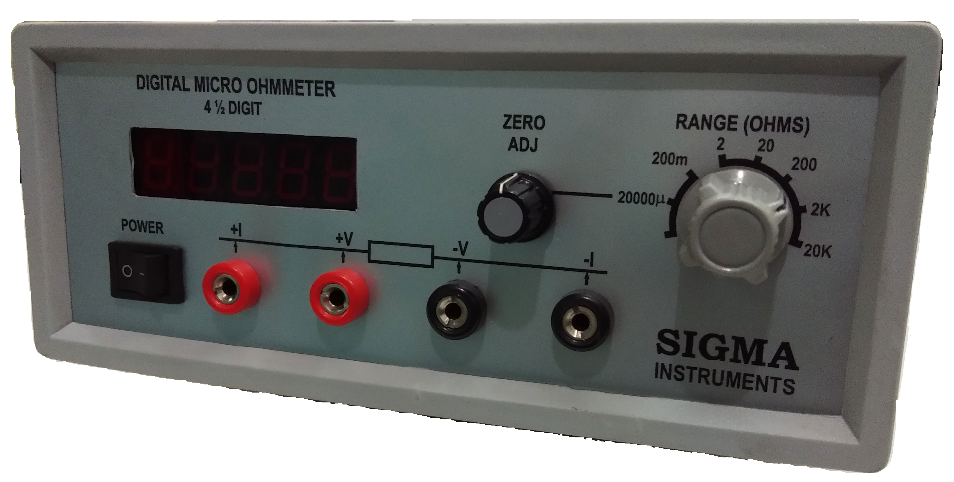 Digital Ohm Meter : Digital micro ohm meter quot sigma digit